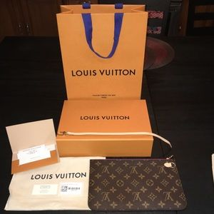 Just purchased today Louis Vuitton Neverfull pouch